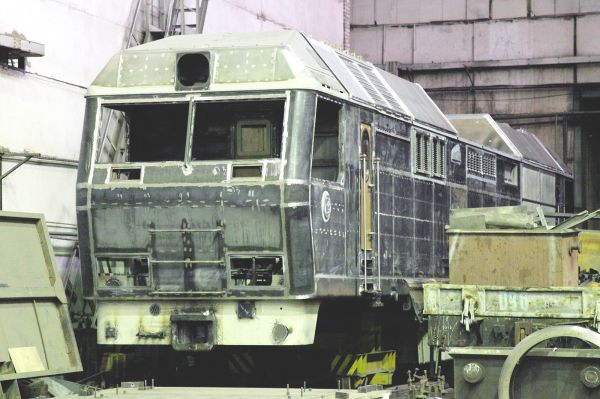 Кузов ТЭП70БС готовый к отправке в сборку