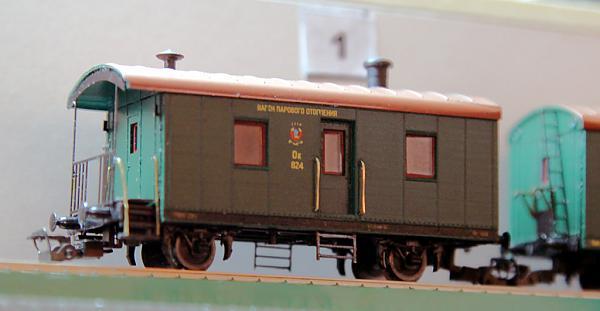 Модель вагона парового отопления авторства Виктора Дёмина